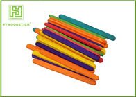 Birch Wooden Craft Sticks For House Making 6 Inch Bright Colors
