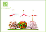 Healthy Cake Ball Sticks 150 X 3.0mm , Logo Printed Personalized Wooden Candy Sticks