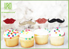 Little Man Mustache Cupcake Toppers Cake Decorating Tools 150mm Length