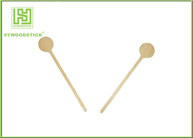 Round End Birch Wooden Coffee Stirrer Sticks Birch Wood Personalized Drink Stirrers