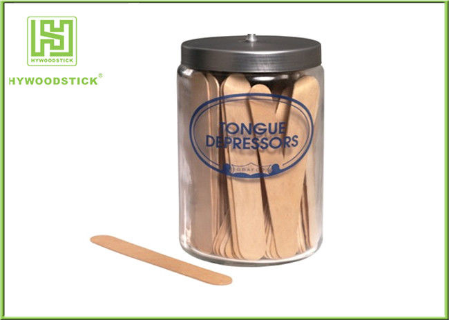 Wooden Disposable Tongue Scraper , Grade A Sterile Tongue Depressors Odorless