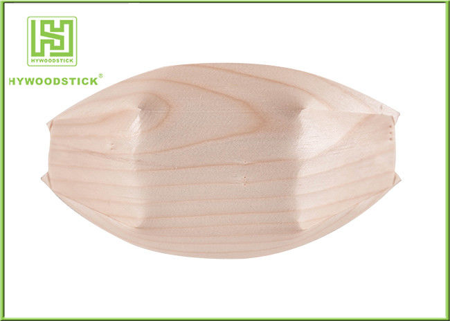 High End Small Wooden Serving Bowls Wooden Sushi Set With FSC FDA Certificated