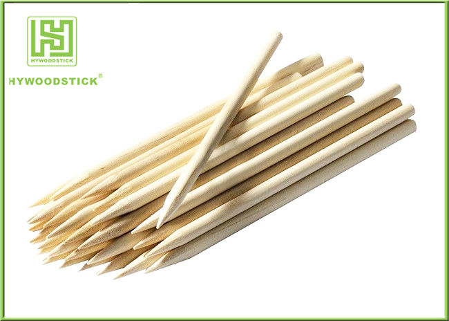 BBQ Pointed Thin Small Wooden Sticks , Wooden Kebab Sticks For Party Picnic