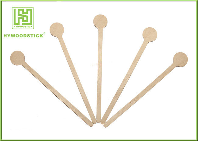140 / 178 / 190mm Birch Wooden Coffee Stirrer Sticks Drink Skewers For Tea